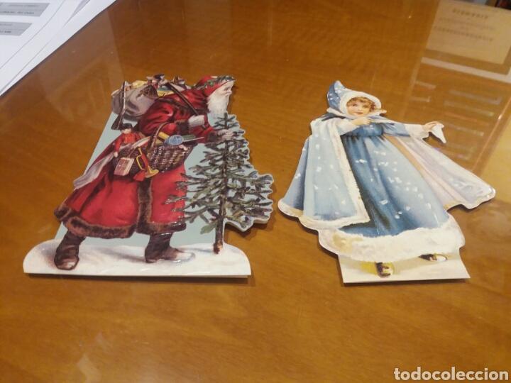 2 POSTALES TROQUELADAS NAVIDAD (Postales - Postales Temáticas - Navidad)