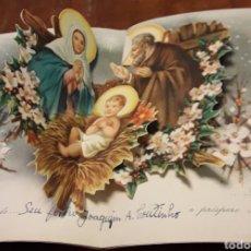 Postales: ANTIGUA FELICITACION TROQUELADA NATAL NAVIDAD. Lote 200127648