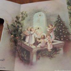 Postales: FELICITACION TROQUELADA DE NAVIDAD NATAL ANTIGUA. Lote 200127880