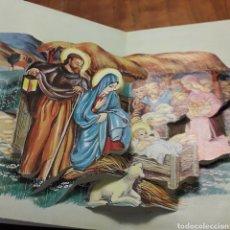 Postales: FELICITACION DE NATAL NAVIDAD TROQUELADA ANTIGUA. Lote 200128023