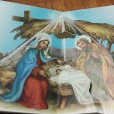 Postales: FELICITACION TROQUELADA DE NATAL NAVIDAD ANTIGUA. Lote 200128345