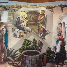 Postales: FELICITACION TROQUELADA DE NATAL NAVIDAD ANTIGUA. Lote 200128771