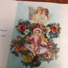 Postales: FELICITACION TROQUELADA ANTIGUA DE NATAL NAVIDAD. Lote 200128913