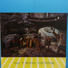 Postales: TARJETA NAVIDEÑA. PAZ Y BUENA VOLUNTAD. III CONGRESO PESEBRISTA INTERNACIONAL, 1958. DÍPTICO. USADA. Lote 200513827