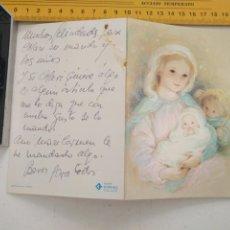 Postales: TARJETA FELICITACION DE NAVIDAD NAVIDEÑA VIRGEN NIÑO JESUS. Lote 202356517