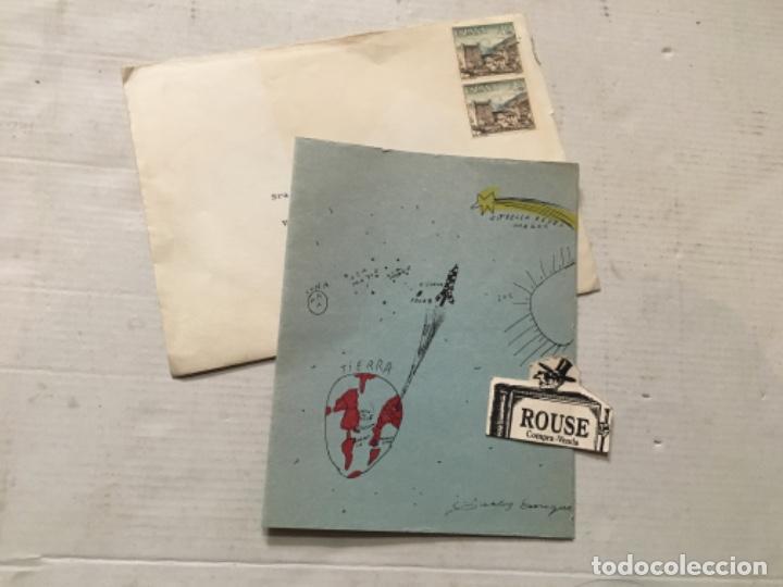 FEMINISMO / POLITICA - ANTIGUA FELICITACION 1965 LIDIA FALCÓN O'NEILL TRÍPTICO 16,5X13 CM. (Postales - Postales Temáticas - Navidad)