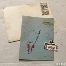 Postales: FEMINISMO / POLITICA - ANTIGUA FELICITACION 1965 LIDIA FALCÓN O'NEILL TRÍPTICO 16,5X13 CM. . Lote 202451372