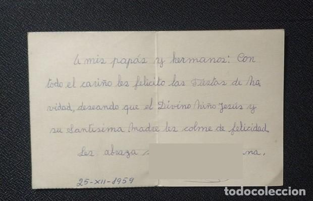 Postales: 6054B - HERMOSA Y ANTIGUA POSTAL NAVIDEÑA - EDICIONES D 4- SERIE 16- DIPTICA 12,5X10,3 CM - 1959 - Foto 3 - 204601838