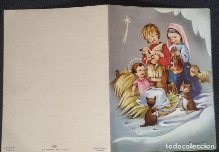 Postales: 6059B - MAQUEDA - EDICIONES SU SERIE 527 Nº 3 - DIPTICA 15X11 CM DATA 1961 - Foto 3 - 204633320