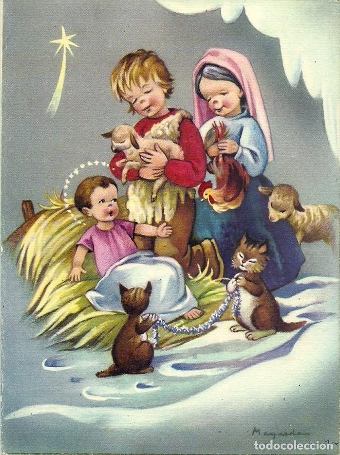 6059B - MAQUEDA - EDICIONES SU SERIE 527 Nº 3 - DIPTICA 15X11 CM DATA 1961 (Postales - Postales Temáticas - Navidad)