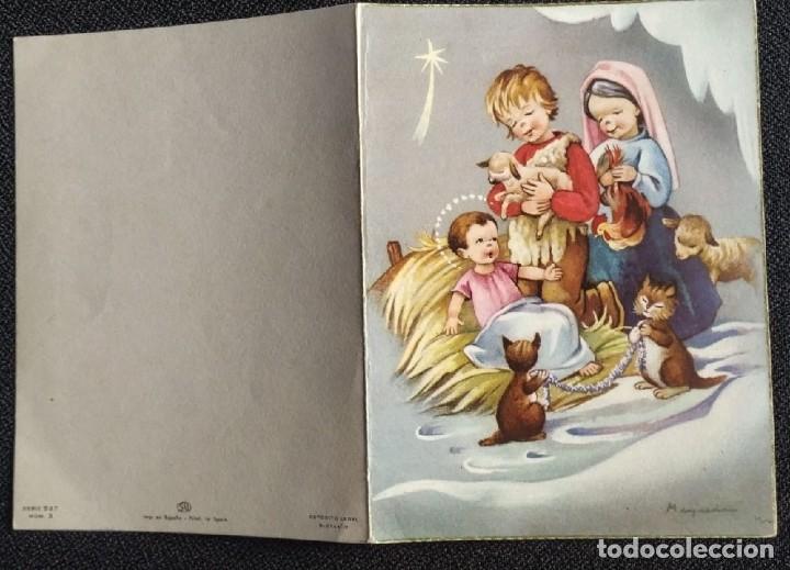 Postales: 6059B - MAQUEDA - EDICIONES SU SERIE 527 Nº 3 - DIPTICA 15X11 CM DATA 1961 - Foto 4 - 204633320