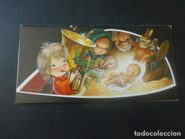 FELICITACION NAVIDAD VERNET ILUSTRADOR 8 X 16 CMTS (Postales - Postales Temáticas - Navidad)