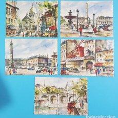 Postales: LOTE 5 PRECIOSAS POSTALES DE PARIS DE ZOÉ, G.NAVARRO NANTERRE, NUEVAS SIN CIRCULAR. Lote 205567466