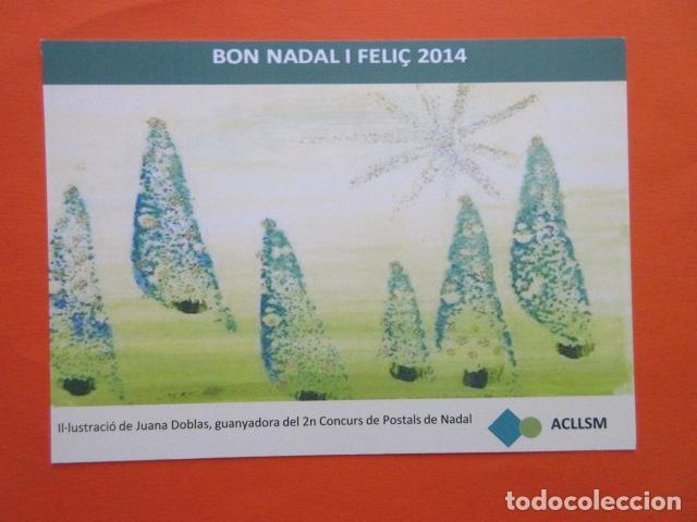 POSTAL NAVIDAD EMPRESA ACLLSM AÑO 2014 AGRUPACIÓ CATALANA DE LLARS DE SALUD MENTAL (Postales - Postales Temáticas - Navidad)