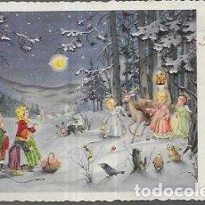 Postales: POSTAL NAVIDAD AFK * NIÑOS CON ANGELITOS * AÑO 1954. Lote 205733766