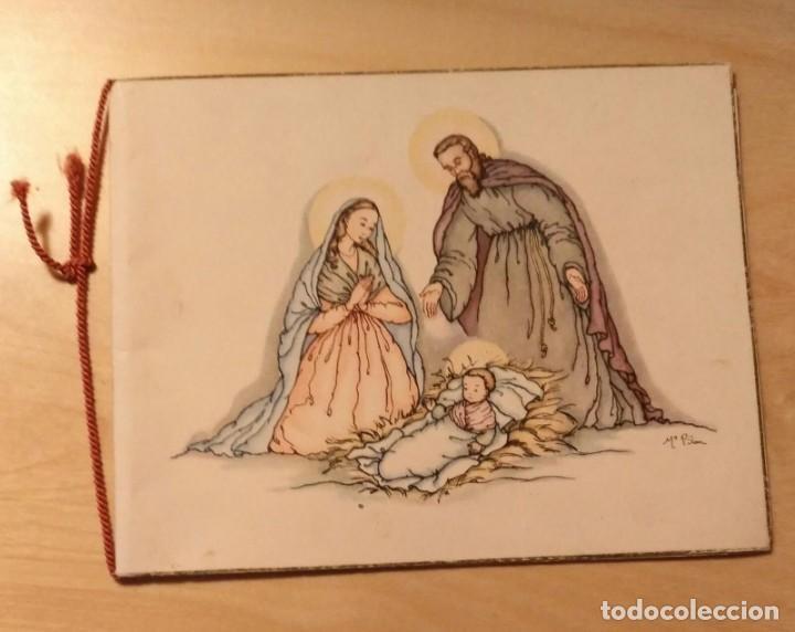 PN 21 ANTIGUA FELICITACIÓN NAVIDEÑA ILUSTRADA POR Mª PILAR - LÉRIDA 24 DICIEMBRE 1948 (Postales - Postales Temáticas - Navidad)