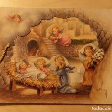Postales: PN 28 ANTIGUA FELICITACIÓN NAVIDEÑA TROQUELADA - ILUSTRADOR C. VIVES - EDICIONES CYZ 1182. Lote 205846847