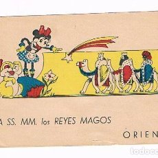 Postales: SOBRE REYES MAGOS MINNIE MOUSE - TAMBOR - AÑOS 40. Lote 207223653