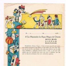 Postales: CARTA REYES MAGOS MINNIE MOUSE - TAMBOR - AÑOS 40. Lote 207223842