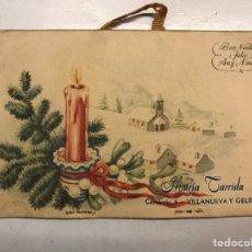 Postales: VILLANUEVA Y GELTRU (BARCELONA) POSTAL PÚBLICITARIA.., BON NADAL Y FELIC ANY NOU (H.1950?). Lote 207236150