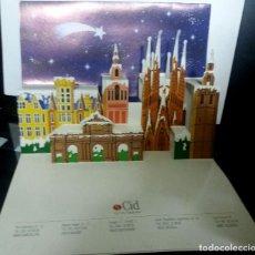 Postales: FELICITACION NAVIDAD TROQUELADA EN DIORAMA * BARCELONA NEVADA * CID PUBLICIDAD. Lote 209869987