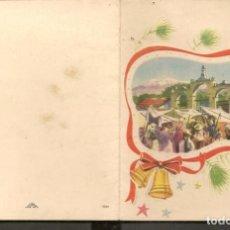 Postales: FELICITACIÓN NAVIDEÑA. DEDICADA, 1953. (P/C53). Lote 211272290