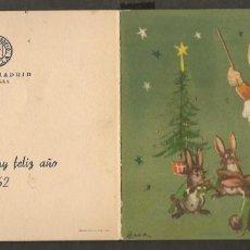 Postales: FELICITACIÓN NAVIDEÑA, HOTEL MADRID. CENA FÍN DE AÑO 1961. SEVILLA. (P/C53). Lote 211278251