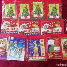 Postales: LOTE DE 12 TARJETAS DE NAVIDAD. Lote 211396640