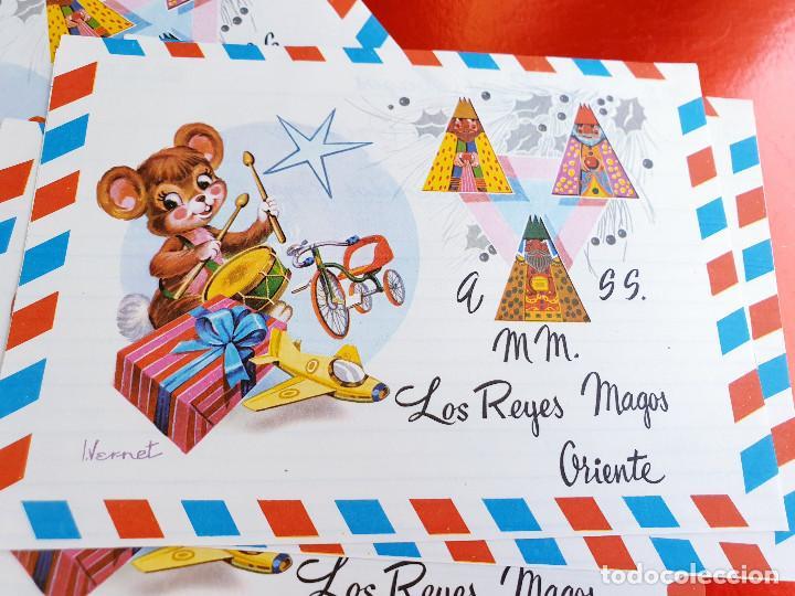LOTE 10 UNIDADES-CARTA REYES MAGOS-VINTAGE-ESPAÑA-CLASICOS-ORIGINAL-VER FOTOS-COMO NUEVAS (Postales - Postales Temáticas - Navidad)