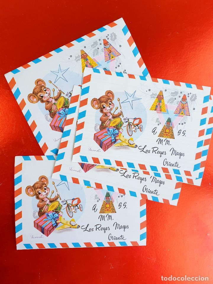 Postales: LOTE 10 UNIDADES-CARTA REYES MAGOS-VINTAGE-ESPAÑA-CLASICOS-ORIGINAL-VER FOTOS-COMO NUEVAS - Foto 3 - 211737423
