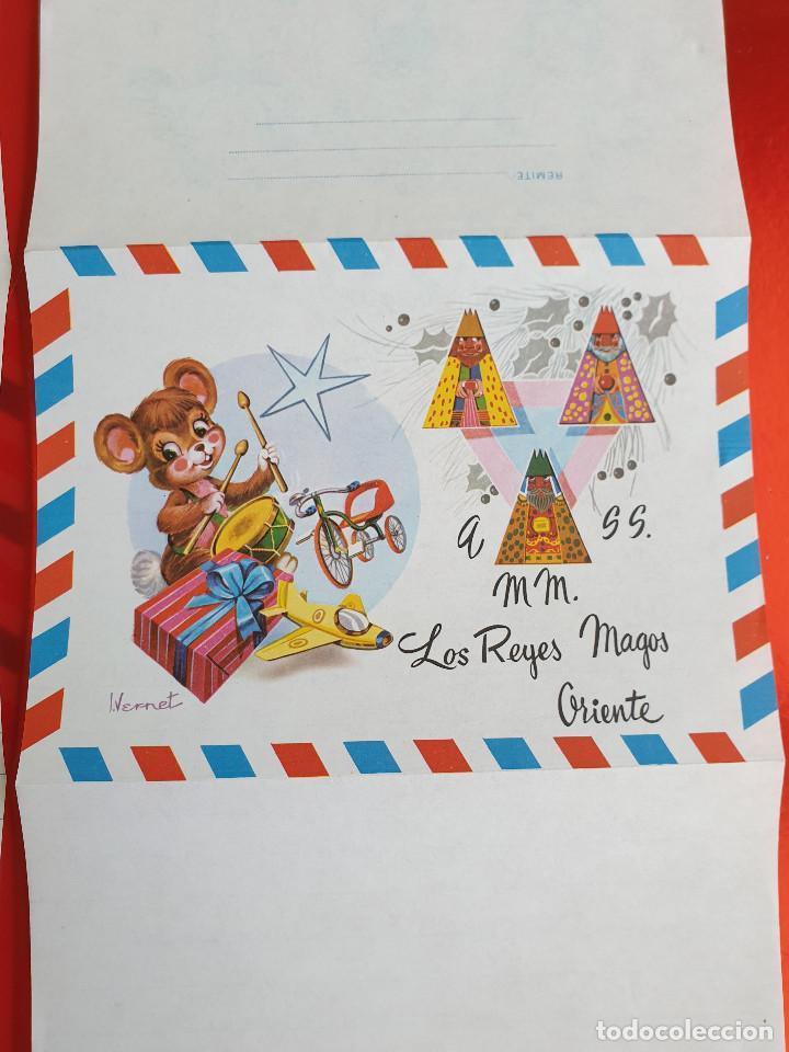 Postales: LOTE 10 UNIDADES-CARTA REYES MAGOS-VINTAGE-ESPAÑA-CLASICOS-ORIGINAL-VER FOTOS-COMO NUEVAS - Foto 4 - 211737423