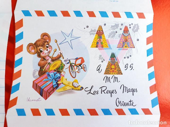 Postales: LOTE 10 UNIDADES-CARTA REYES MAGOS-VINTAGE-ESPAÑA-CLASICOS-ORIGINAL-VER FOTOS-COMO NUEVAS - Foto 7 - 211737423