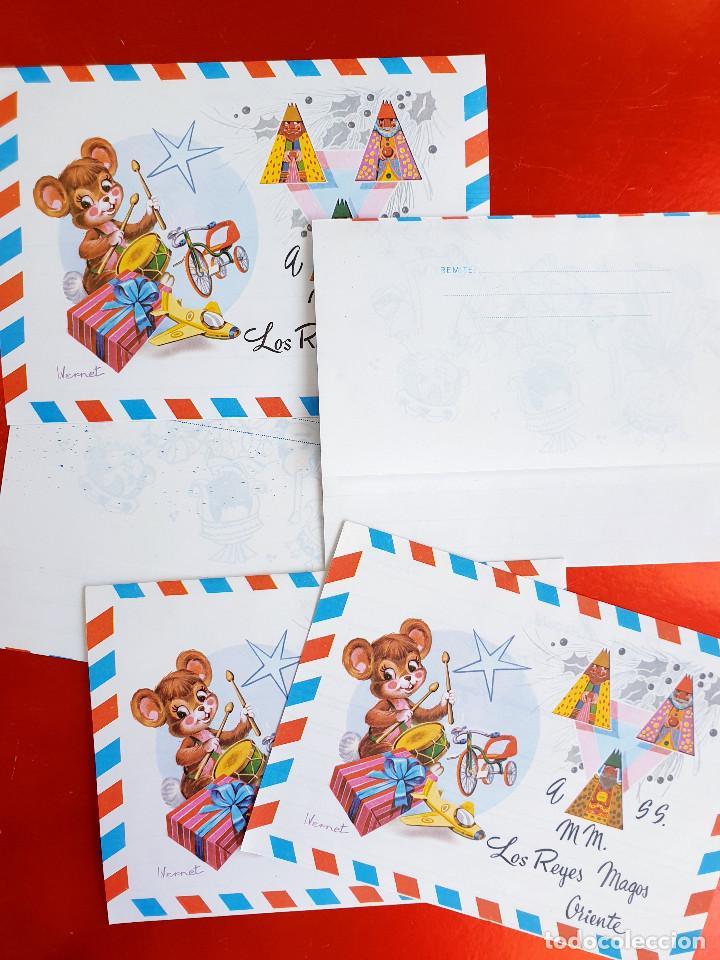 Postales: LOTE 10 UNIDADES-CARTA REYES MAGOS-VINTAGE-ESPAÑA-CLASICOS-ORIGINAL-VER FOTOS-COMO NUEVAS - Foto 9 - 211737423