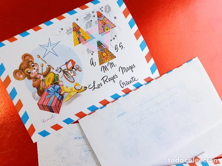 Postales: LOTE 10 UNIDADES-CARTA REYES MAGOS-VINTAGE-ESPAÑA-CLASICOS-ORIGINAL-VER FOTOS-COMO NUEVAS - Foto 10 - 211737423