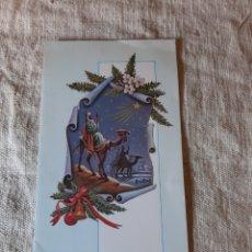 Postales: VENTUROSO AÑO FELICITACIÓN NAVIDEÑA ESCRITA 122143 REYES MAGOS ARTIS MUTI MADRID. Lote 212194457