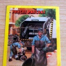 Postales: FELICES PASCUAS, RECOGIDAS DE BASURAS,ANTIGUO EN PERFECTO ESTADO. Lote 212256112