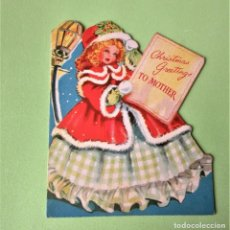 Postales: POSTAL DE NAVIDAD TROQUELADA MUY BONITA. Lote 212432507