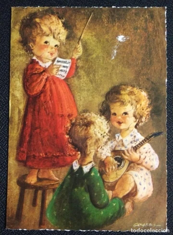 6018M - GRASSA -EDICIONES ORTIZ X169 -DIPTICA, EN RELIEVE 16,5X11,5 CM- PUBLICITARIA HOSTAL CABRILS (Postales - Postales Temáticas - Navidad)