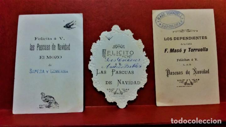 Postales: LOTE 10 FELICITACIONES PASCUAS DE NAVIDAD DIVERSAS COMERCIALES DE BARCELONA.PRIMERA MITAD S.XX - Foto 3 - 213891981