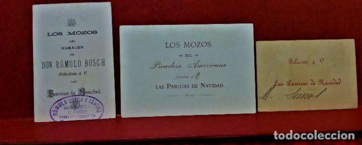 Postales: LOTE 10 FELICITACIONES PASCUAS DE NAVIDAD DIVERSAS COMERCIALES DE BARCELONA.PRIMERA MITAD S.XX - Foto 5 - 213891981