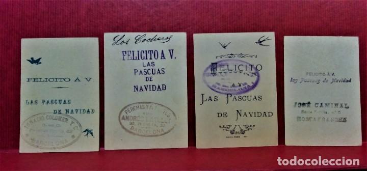 Postales: LOTE 10 FELICITACIONES PASCUAS DE NAVIDAD DIVERSAS COMERCIALES DE BARCELONA.PRIMERA MITAD S.XX - Foto 7 - 213891981