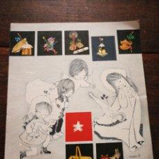 Postales: ANTIGUA POSTAL FELICITACIÓN NAVIDAD- MARIA DOLORS SALMONS, (ESCRITA), 17X15CM. DIFÍCIL!!!. Lote 220939008