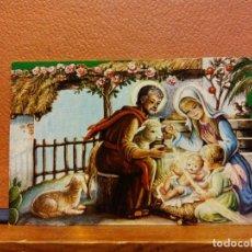 Postales: VISITA DE UN ÁNGEL A LA SAGRADA FAMILIA. TARJETA DE NAVIDAD. SIN USAR. MEDIDAS 9.5*6 CM. Lote 221800616