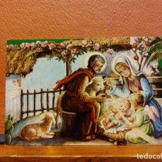 Postales: VISITA DE UN ÁNGEL A LA SAGRADA FAMILIA. TARJETA DE NAVIDAD. SIN USAR. MEDIDAS 9.5*6 CM. Lote 221800650