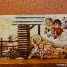 Postales: VISITA DE LOS ÁNGELES AL DIVINO NIÑO. TARJETA DE NAVIDAD. SIN USAR. MEDIDAS 9.5*6 CM. Lote 221800827