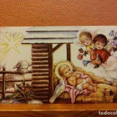 Postales: VISITA DE LOS ÁNGELES AL DIVINO NIÑO. TARJETA DE NAVIDAD. SIN USAR. MEDIDAS 9.5*6 CM. Lote 221800845