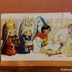 Postales: VISITA DE LOS REYES MAGOS. TARJETA DE NAVIDAD. SIN USAR. MEDIDAS 9.5*6 CM. Lote 221801228