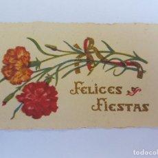 Postales: FELICES FIESTAS, HAPPY HOLIDAYS, BONNE FÊTES, CIRCA 1950. Lote 222186341