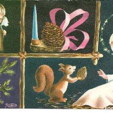 Cartes Postales: FELICITACION NAVIDAD *JOAN* - LA ARDILLA Y EL NIÑO JESUS - 20X11,50 CM. Lote 222668682