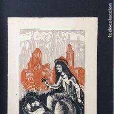 Postales: POSTAL NAVIDAD ASOCIACION DE EXLIBRISTAS DE BARCELONA 1958 GELABERT. Lote 223809292